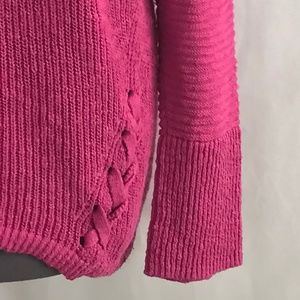 Christopher & Banks Sweaters - Christopher & Banks Fuchsia Long Sleeve Sweater